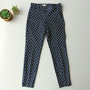 H&M Navy Arrow Print High Waist Skinny Ankle Pants